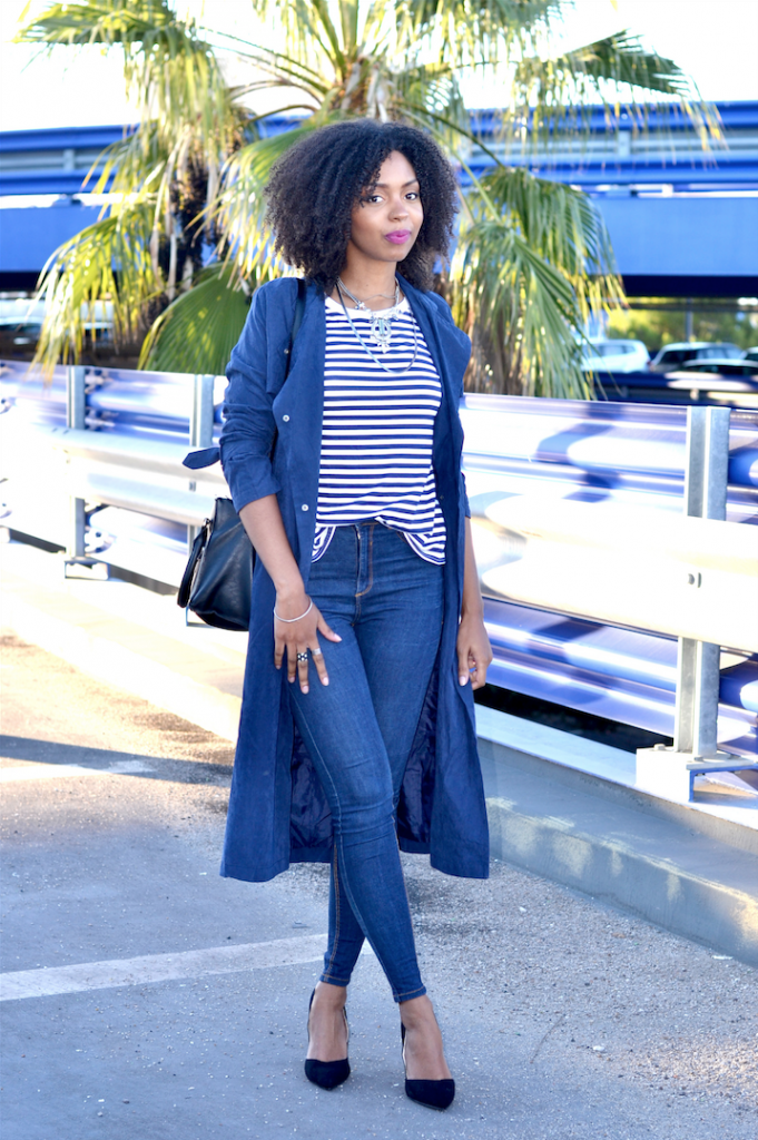 Blog Lirons D'elle -Blue stripes, coat and jean